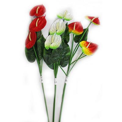 Цветок искусственный Антуриум 110см