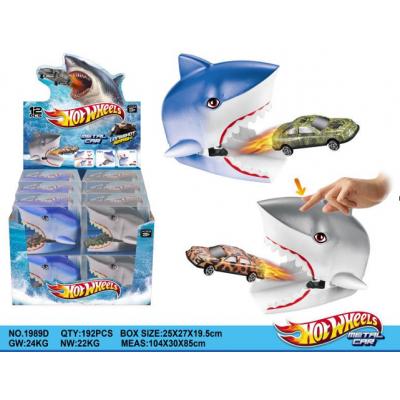 машина с акулой HOTWHEELS