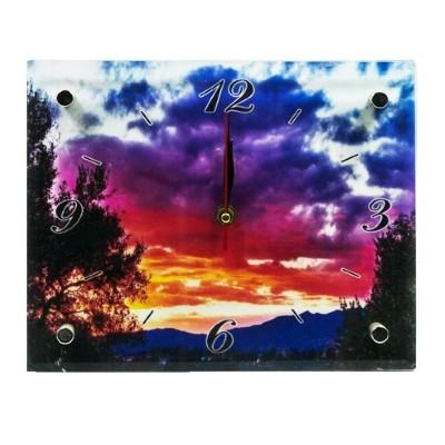 Часы стекл настенные Пейзаж-2 20*25 см
