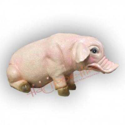 Грустная свинка(гипс)