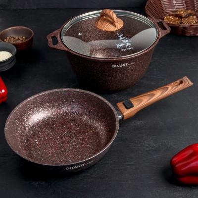 АП Набор кухонной посуды №17 Гранит Ультра красный