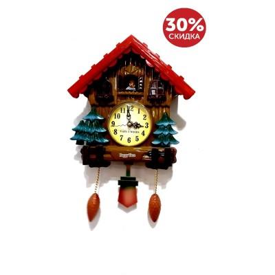 Часы настенные Домик,елки 23*15,5 см