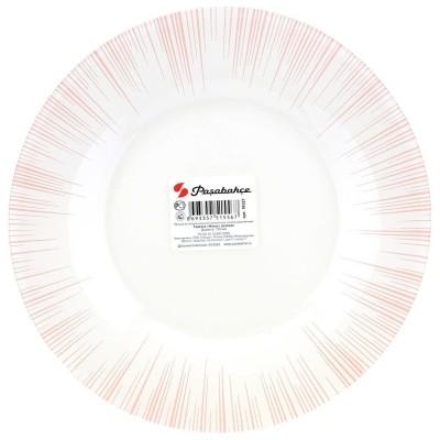 """Focus"""" тарелка десертная проч. 3 цв. роз. (d-195мм) SL со стикером 10327 D 29082 SL"""