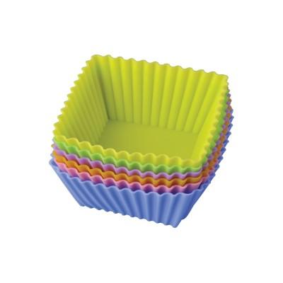Набор из 6ти форм для кексов 7см (силикон,5видов)