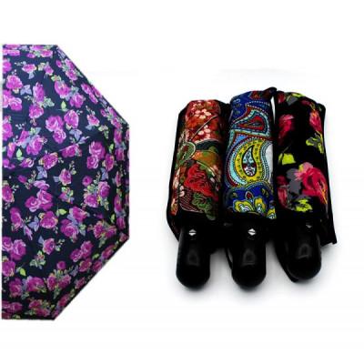 Зонт автомат с цветочками