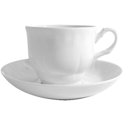 """Чайная пара 250 см3 ф.272 """"Тюльпан"""" """"белье"""""""