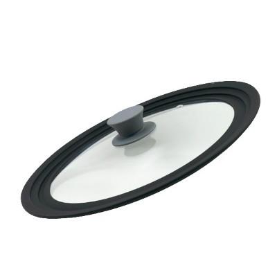 Универсальная крышка 26-28-30(стекло.силикон)