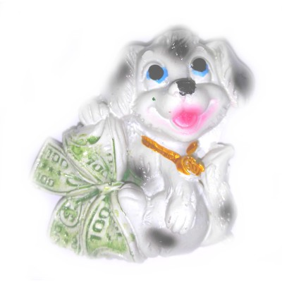 Магнит Собачка с долларом 5см*4,5см