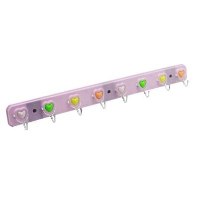 Вешалка с крючками 4 цвета пластик