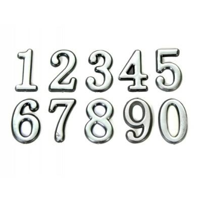 Цифра самоклеющяяся 5,5*3,2*0,5см от 0 до 9 (по 10шт) Золото