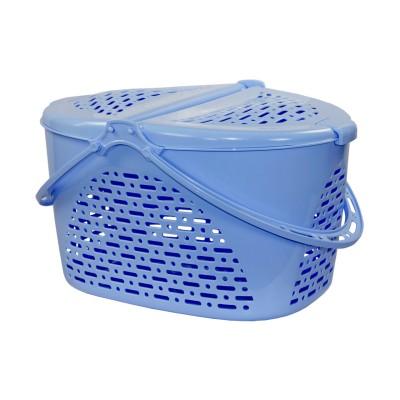 Корзина для пикника (390х290х230)(голубой)(уп.7)