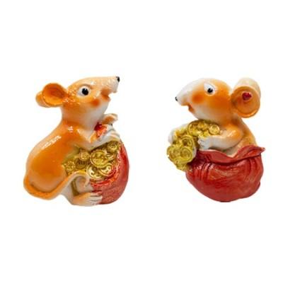 "Магнит ""Мышки в мешочке с монетами""(керамика) 5см"