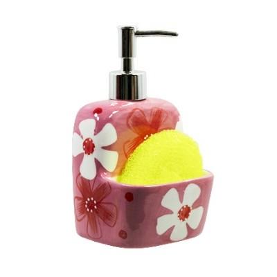 Дозатор для мыла с губкой