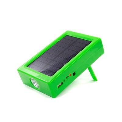 Солнечная батарея POWER BANK + фонарик 3.7v/2800 mAh 14*9см+LED лампа